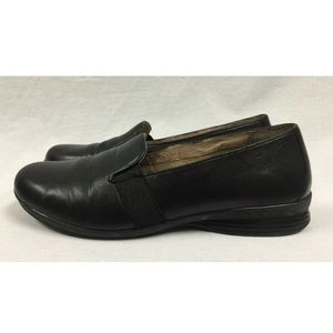 Dansko Shoes - Women's Dansko Addy Black Leather Loafers 41 or 11